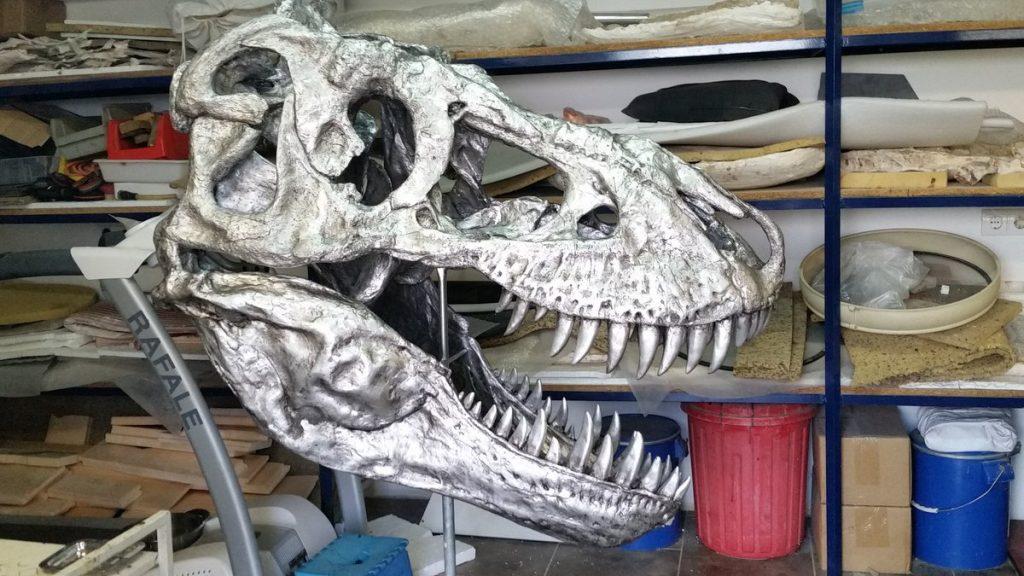 Tyrannosaurus Fossil Cast silver